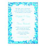 Invitaciones del boda del confeti comunicado