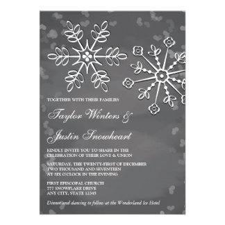 Invitaciones del boda del copo de nieve de la piza anuncio