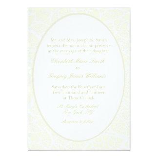 Invitaciones del boda del cordón de Cream&White Invitación 12,7 X 17,8 Cm