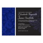 Invitaciones del boda del damasco de los azules ma comunicados personalizados