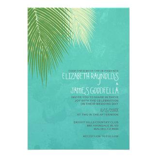 Invitaciones del boda del destino de la playa
