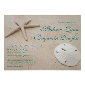 Invitaciones del boda del destino de la playa de invitaciones personalizada