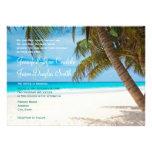 Invitaciones del boda del destino de la playa de l invitaciones personalizada