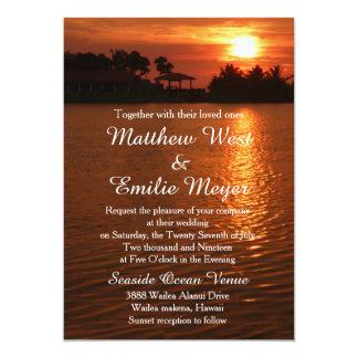 Invitaciones del boda del destino de la puesta del invitación 12,7 x 17,8 cm