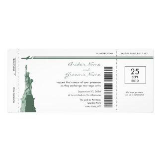 Invitaciones del boda del documento de embarque de anuncio personalizado