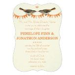 Invitaciones del boda del empavesado del pájaro de
