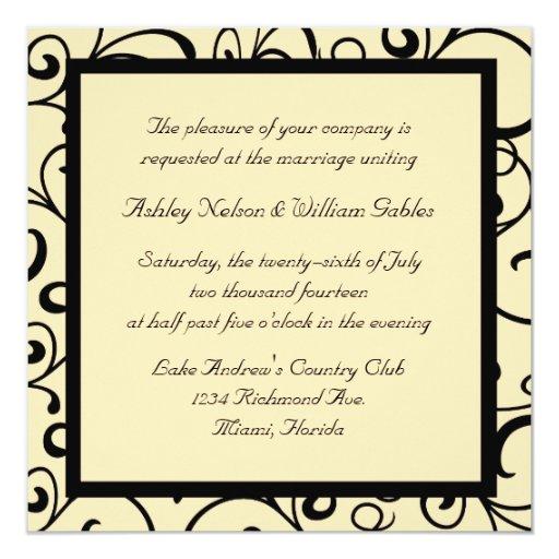 Invitaciones del boda del estilo de la almendra invitación 13,3 cm x 13,3cm