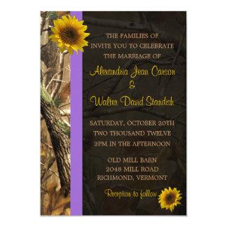 Invitaciones del boda del girasol de Camo Invitaciones Personalizada