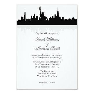 """Invitaciones del boda del horizonte de Nueva York Invitación 5"""" X 7"""""""