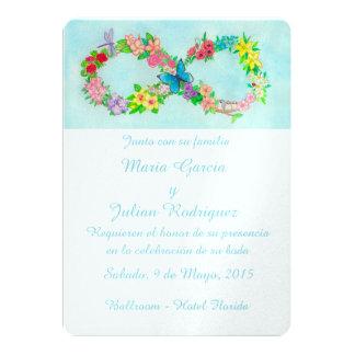 """Invitaciones del boda del infinito invitación 5"""" x 7"""""""