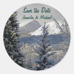 Invitaciones del boda del invierno etiqueta redonda
