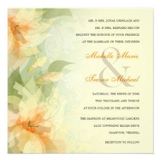 Invitaciones del boda del jardín - floral amarillo anuncio personalizado