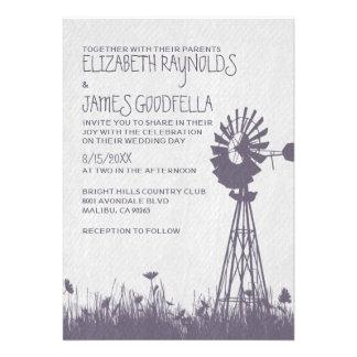 Invitaciones del boda del molino de viento
