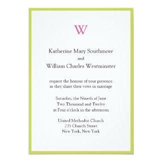 Invitaciones del boda del monograma invitación 12,7 x 17,8 cm