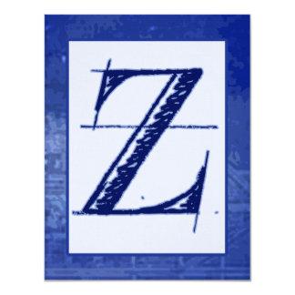 "Invitaciones del boda del monograma del modelo ""Z"" Invitacion Personalizada"