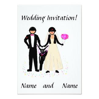 """Invitaciones del boda del motorista invitación 5"""" x 7"""""""