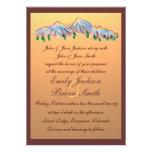 Invitaciones del boda del otoño del diseño de la m comunicados personalizados