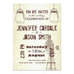 Invitaciones del boda del país del molino de invitacion personal
