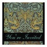 Invitaciones del boda del pavo real de William Comunicado Personalizado