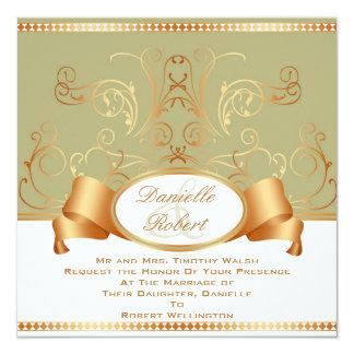 Invitaciones del boda del remolino de la cinta del comunicados