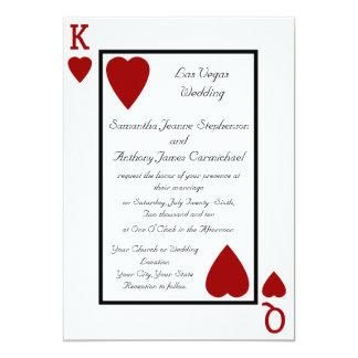 """Invitaciones del boda del rey/de la reina del invitación 5"""" x 7"""""""