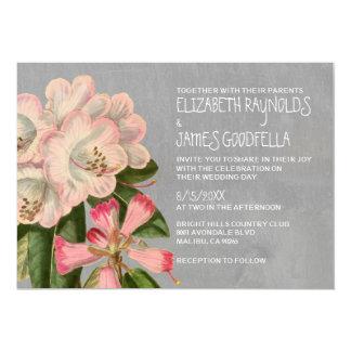 """Invitaciones del boda del rododendro invitación 5"""" x 7"""""""