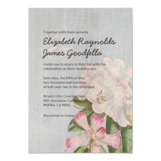 """Invitaciones del boda del rododendro del vintage invitación 5"""" x 7"""""""
