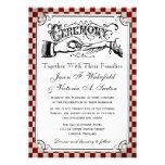 Invitaciones del boda del tablero de damas de Stea