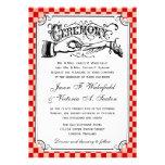Invitaciones del boda del tablero de damas de Stea Comunicado Personalizado