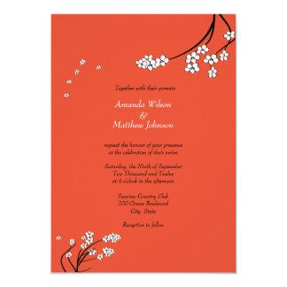 Invitaciones del boda del tango de la mandarina invitación 12,7 x 17,8 cm