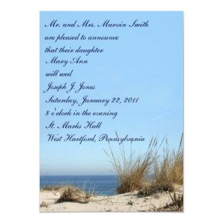 """Invitaciones del boda del tema de la playa invitación 5"""" x 7"""""""