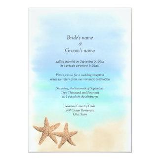 Invitaciones del boda del tema de la playa de la invitación 12,7 x 17,8 cm