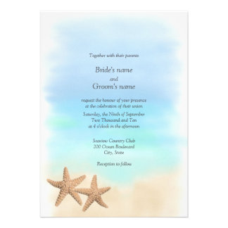 Invitaciones del boda del tema de la playa de las anuncio