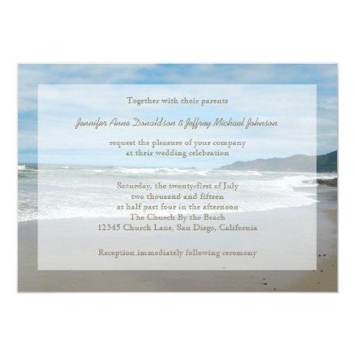 Invitaciones del boda del tema de la playa, playa invitaciones personalizada