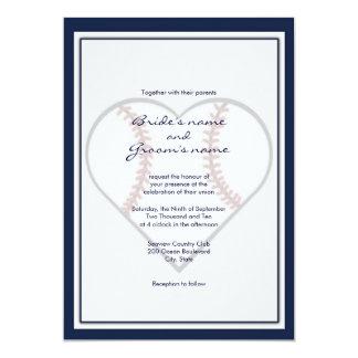 Invitaciones del boda del tema del béisbol invitaciones personalizada
