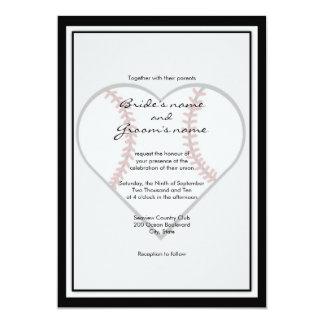"""Invitaciones del boda del tema del béisbol invitación 5"""" x 7"""""""