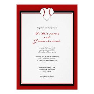 Invitaciones del boda del tema del béisbol invitacion personal
