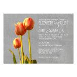 Invitaciones del boda del tulipán