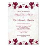 Invitaciones del boda del viñedo anuncio personalizado