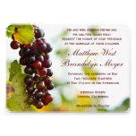 Invitaciones del boda del viñedo de las uvas del l
