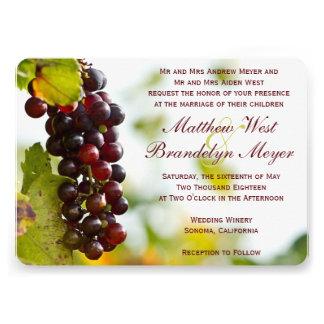 Invitaciones del boda del viñedo de las uvas del l anuncio personalizado