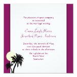Invitaciones del boda del vino de la sangría de invitación 13,3 cm x 13,3cm