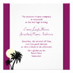 Invitaciones del boda del vino de la sangría de la comunicados personales
