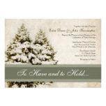 Invitaciones del boda del vintage de los árboles d comunicado personalizado