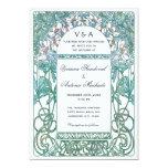 Invitaciones del boda del vintage de Nouveau del Comunicado Personal
