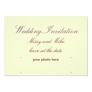 """Invitaciones del boda invitación 5"""" x 7"""""""