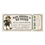 Invitaciones del boleto del vintage del fiesta del invitación personalizada