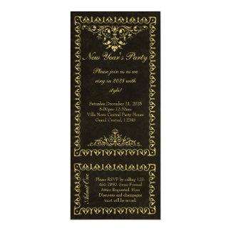 Invitaciones del boleto del vintage del negro y comunicados personales
