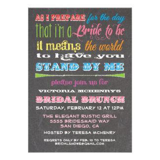 Invitaciones del brunch de la dama de honor de la invitaciones personalizada