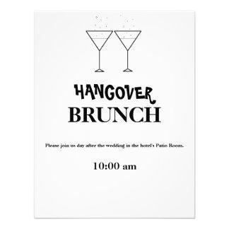 Invitaciones del brunch de la resaca comunicado personalizado